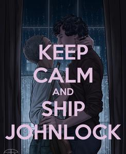 Poster: KEEP CALM AND SHIP JOHNLOCK