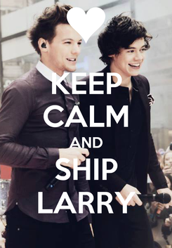 Poster: KEEP CALM AND SHIP LARRY