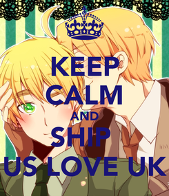 Poster: KEEP CALM AND SHIP  US LOVE UK