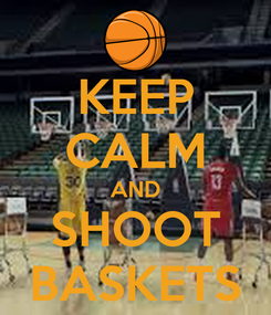 Poster: KEEP CALM AND SHOOT BASKETS