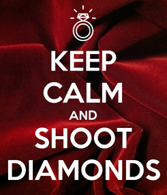 Poster: KEEP CALM AND SHOOT DIAMONDS