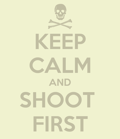 Poster: KEEP CALM AND SHOOT  FIRST