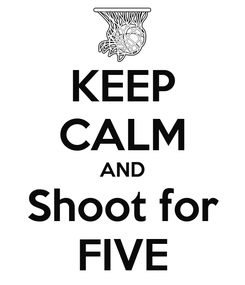 Poster: KEEP CALM AND Shoot for FIVE