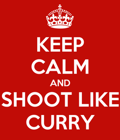 Poster: KEEP CALM AND SHOOT LIKE CURRY