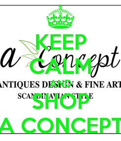 Poster: KEEP CALM AND SHOP A CONCEPT