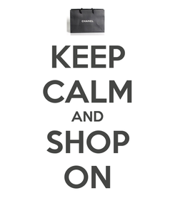 Poster: KEEP CALM AND SHOP ON