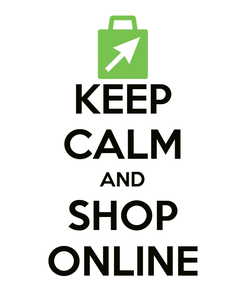 Poster: KEEP CALM AND SHOP ONLINE