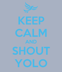 Poster: KEEP CALM AND SHOUT YOLO