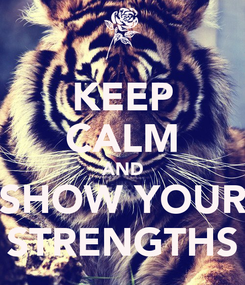 Poster: KEEP CALM AND SHOW YOUR STRENGTHS