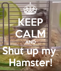 Poster: KEEP CALM AND Shut up my  Hamster!