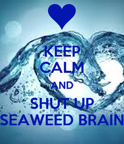 Poster: KEEP CALM AND SHUT UP SEAWEED BRAIN