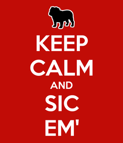 Poster: KEEP CALM AND SIC EM'