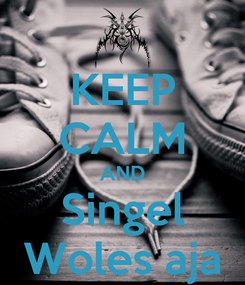 Poster: KEEP CALM AND Singel Woles aja