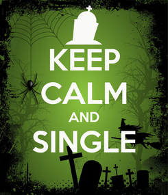Poster: KEEP CALM AND SINGLE