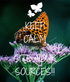 Poster: KEEP CALM AND SITE YOUR SOURCES!!!