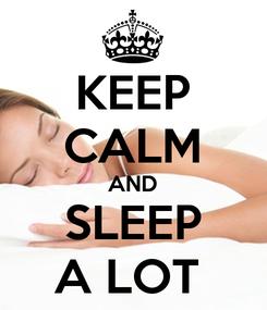 Poster: KEEP CALM AND SLEEP A LOT