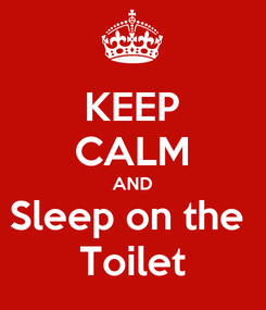 Poster: KEEP CALM AND Sleep on the  Toilet