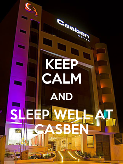 Poster: KEEP CALM AND SLEEP WELL AT CASBEN