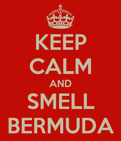 Poster: KEEP CALM AND SMELL BERMUDA