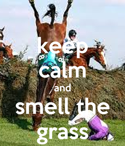 Poster: keep calm and smell the grass