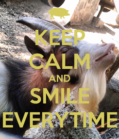 Poster: KEEP CALM AND SMILE EVERYTIME