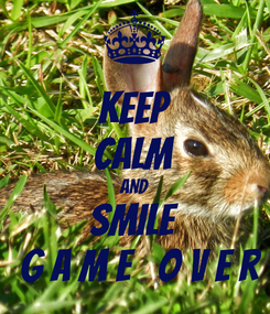 Poster: KEEP CALM AND SMILE  G A M E   O V E R