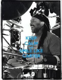 Poster: KEEP CALM AND SMILE LIKE CARTER