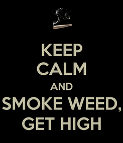 Poster: KEEP CALM AND SMOKE WEED, GET HIGH