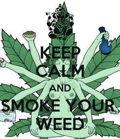 Poster: KEEP CALM AND SMOKE YOUR  WEED