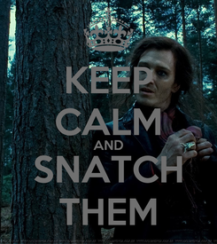 Poster: KEEP CALM AND SNATCH THEM