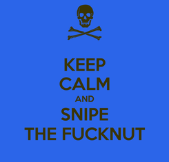 Poster: KEEP CALM AND SNIPE THE FUCKNUT