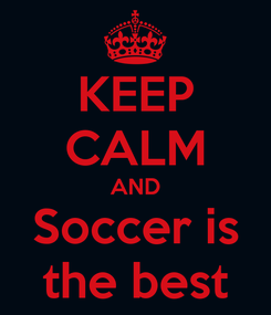 Poster: KEEP CALM AND Soccer is the best