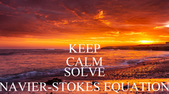 Poster: KEEP CALM AND SOLVE NAVIER-STOKES EQUATION
