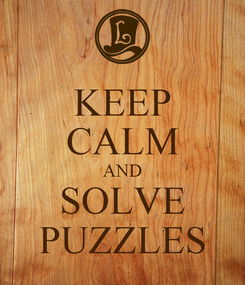 Poster: KEEP CALM AND SOLVE PUZZLES