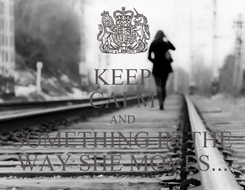 Poster: KEEP CALM AND SOMETHING IN THE WAY SHE MOVES...