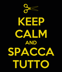 Poster: KEEP CALM AND SPACCA TUTTO