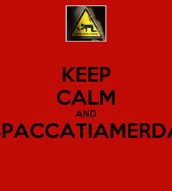 Poster: KEEP CALM AND SPACCATIAMERDA