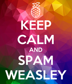 Poster: KEEP CALM AND SPAM WEASLEY