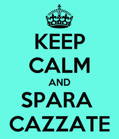 Poster: KEEP CALM AND SPARA  CAZZATE