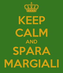 Poster: KEEP CALM AND SPARA MARGIALI