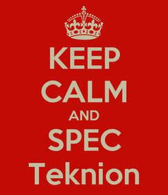 Poster: KEEP CALM AND SPEC Teknion