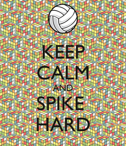 Poster: KEEP CALM AND SPIKE  HARD