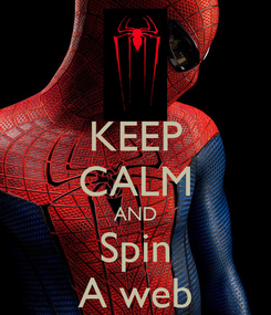 Poster: KEEP CALM AND Spin A web