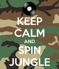 Poster: KEEP CALM AND SPIN JUNGLE