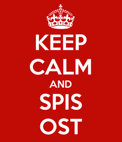 Poster: KEEP CALM AND SPIS OST