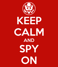 Poster: KEEP CALM AND SPY ON