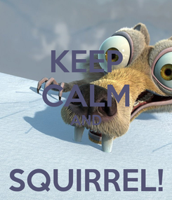 Poster: KEEP CALM AND  SQUIRREL!