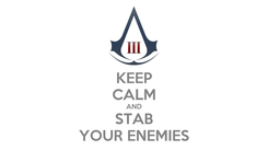 Poster: KEEP CALM AND STAB YOUR ENEMIES