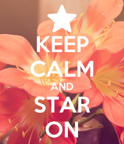 Poster: KEEP CALM AND STAR ON