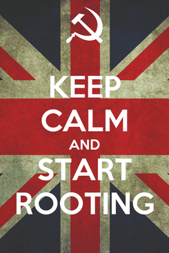 Poster: KEEP CALM AND START ROOTING